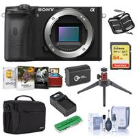 Image of Sony Alpha a6600 Mirrorless Camera Body - Bundle With Camera Case, 64GB SDXC U3 Memory Card, Spare Battery, Table Top Tripod, Compact Charger, Cleaning Kit, Memory Wallet, Card Reader, Mac Software