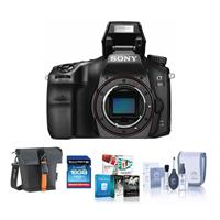 Sony Alpha a68 Digital SLR Camera Body - Bundle with Holster Case, 16GB SDHC Card, Cleaning Kit, Software Package