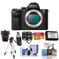 Sony Alpha a7 II Mirrorless Digital Camera (Body Only), Bundle Includes Bag, 32GB SD Card Extra Battery, Corel PC Photo/Video Editing Software, Tripod and Accessories