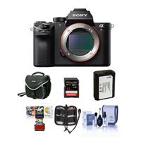 Sony a7R II Alpha Full Frame Mirrorless Digital Camera Body - Bundle with Camera Bag, 32GB Class 10 U3 SDHC Card, Spare Battery, Cleaning Kit, Memory Wallet, Mac Software Package
