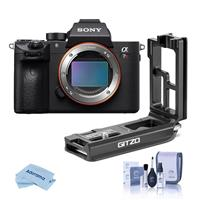 Sony a7R III Mirrorless Digital Camera Body - WITH Gitzo Aluminum L-Bracket for Sony a7R III & a9, Cleaning Kit, Microfiber Cloth