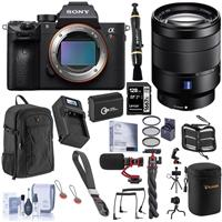 Image of Sony Alpha a7R III Mirrorless Digital Camera (V2) with FE 24-70mm f/4 ZA OSS Lens Bundle with 128GB SD Card, Backpack, Extra Battery, Charger, Wrist Strap, Mic, Filter Kit and Accessories