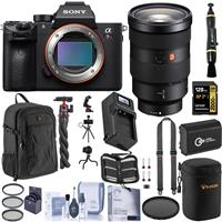Image of Sony Alpha a7R IV Mirrorless Digital Camera (V2) with FE 24-70mm f/2.8 GM Lens Bundle with 128GB V90 SD Card, Backpack, Extra Battery, Charger, Shoulder Strap and Accessories