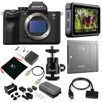 """Sony Alpha a7S III Mirrorless Camera Body - Bundle With Atomos Ninja V 5"""" Touchscreen Recording Monitor, Atomos 5"""" Accessory Kit - Angelbird AtomX SSDmini 1TB External Solid State Drive And more"""