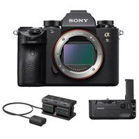 Sony Alpha a9 Mirrorless Digital Camera, Full Frame - Bundle with Sony VG-C3EM Vertical Grip, Sony NPA-MQZ1K Multi-Battery Adapter Kit