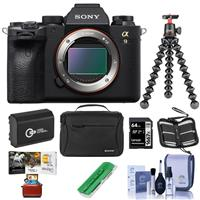 Sony Alpha a9 II Mirrorless Digital Camera Body - Bundle With Camera Case, Joby GorillaPod 3K Kit Black, Spare Battery, 64GB SDXC Card, Cleaning Kit, Memory Wallet, Card Reader, Mac Software Package