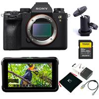 "Sony Alpha a9 II Mirrorless Camera Body - Bundle With Sony SF-G Series TOUGH 64GB U3 V90 SDXC Memory Card, Atomos Shinobi 5.2"" IPS Touchscreen Monitor, SmallHD Ball Mount, Zilr 4Kp60 HDMI Cable"