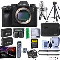 Sony Alpha a9 II Mirrorless Camera Body - Bundle With Camera Case, 2x Spare Battery, 128GB SDXC Card, Peak Design SlideLITE Strap, Tripod, Wireless Remote Shutter Release, Pro Software, And More