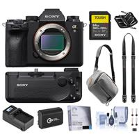 Sony Alpha a9 II Mirrorless Camera Body - Bundle With Sony SF-G 64GB U3 SDXC Memory Card, Sony VG-C4EM Vertical Grip, Peak 5L Everyday Sling Bag, Peak Leash Camera Strap, Spare Battery, And More