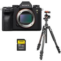 Sony Alpha a9 II Mirrorless Digital Camera Body - Bundle With Sony SF-G Series TOUGH 64GB U3 V90 SDXC Memory Card, Manfrotto Befree Advanced 4-Section Tripod with Ballhead
