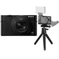 Image of Sony Cyber-shot DSC-RX100 VII Digital Camera - With SmallRig Vlog Kit Cage, Mini Tripod, QR Plate