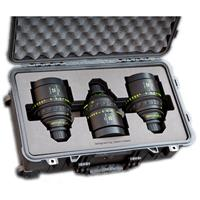 Image of Jason Cases Protective Case with Laser-Cut Foam for Set of 3 Arri Zeiss Master Prime Lenses, Compact