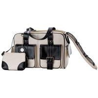 Jill.e Weatherproof Medium Bone Leather Camera Bag with Black Leather Trim, Velcro Divider Interior Product image - 703