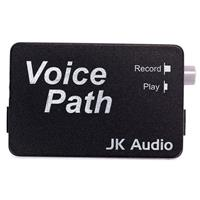 "JK Audio Voice Path Telephone Handset Audio Tap for Phone Conversation Recording to Computer Sound Cards, 1/8"" (3.5mm) TRS Cable Input and Output"