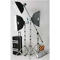Reliable JTL TL-880 Softbox Boom Kit, with 2 Versalight E-250, 1 Versalight J-160 Strobe with Stands, Cases & Product photo