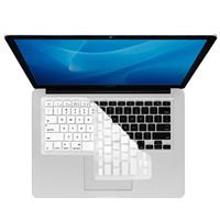Image of KB Covers Checkerboard (Clear with White Buttons) Keyboard Cover for MacBook, MacBook Air and Unibody MacBook Pro with Black Keys