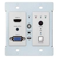 Image of Key Digital KD-X2X1WVTX 2x1 4K/18G HDBT PoH Wall Plate Switcher with HDMI & VGA, IR, RS-232, Transmitter Only
