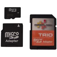 Image of KJB Security Products SD6400HC 64GB Micro SD Card with 3-In-1 Adapter