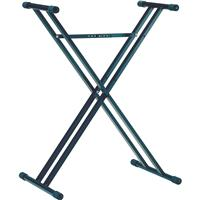 """Image of K&M 18963 Double Brace X-Style Keyboard Stand, 15.7-35.6"""" Adjustable Height, 110.2 lb Capacity, Black"""