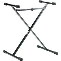 """Image of K&M 18969 X-Style Keyboard Stand for Kids, 13.3-29.5"""" Adjustable Height, 110.2 lb Capacity, Black"""