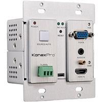 Image of KanexPro 4K HDMI and VGA Wall Plate Transmitter Over HDBaseT