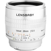 Image of Lensbaby Velvet 28 28mm f/2.5 Lens for Micro Four Thirds, Silver