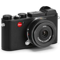 Leica CL Mirrorless Digital Camera, Black - With Leica 18mm F2.8 ELMARIT-TL Aspherical Pancake Lens, Black