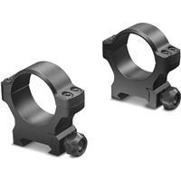 "Image of Leupold 1"" BackCountry Cross-Slot Riflescope Mounting Rings, 2 Pack, High, Matte Black"