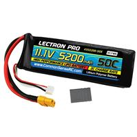 Image of COMMON SENSE RC Lectron Pro 11.1V 5200mAh 50C Lithium Polymer Battery with EC5 Connector