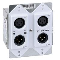 Lectrosonics Dante In-Wall Input/Output Interface, 1.8kOhms Input Impedance, 2 Input and 2 Output