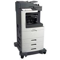 Image of Lexmark MX810dte MultiFunction Mono Laser Printer, 55 ppm Print Speed, 1200x1200dpi Print Resolution, 1750-Sheets Standard Input - Print, Scan, Fax, Copy
