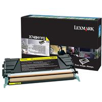Image of Lexmark Yellow High Yield Return Program Laser Toner Cartridge for X748dte and X748de Printers, 10000 Pages Yield