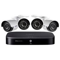 Image of Lorex 1080p HD 8-Channel Security System with 1TB HDD DVR and 4x 1080p HD Weatherproof Bullet Security Cameras with Night Vision 130'