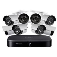 Image of Lorex 1080p HD 8-Channel Security System with 1TB HDD DVR and 8x 1080p HD Weatherproof Bullet Security Cameras with Night Vision 130'