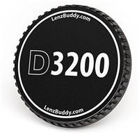 Image of LenzBuddy Body Cap for Nikon D3200 Digital Camera, Black & White