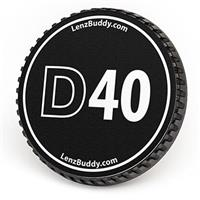 Image of LenzBuddy Body Cap for Nikon D40 Digital Camera, Black & White