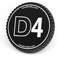 Image of LenzBuddy Body Cap for Nikon D4 Digital Camera, Black & White
