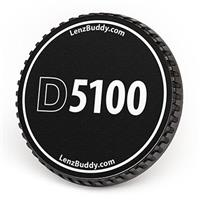 Image of LenzBuddy Body Cap for Nikon 5100 Digital Camera (Black & White)