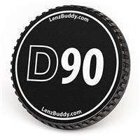 Image of LenzBuddy Body Cap for Nikon D90 Digital Camera, Black and White