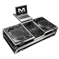 Marathon Flight Road Case with Wheels and Laptop Shelf for 2x Pioneer CDJ-2000 Large Format CD Players and Rane 61 Serato Mixer
