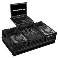 "Marathon Flight Road Black Series Case for 2x Small Format CD Players Plus 12"" Mixers, 17"" Laptop"