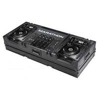 "Marathon Flight Road Black Series Coffin Case for 2x Large Format Pioneer CDJ200 CD Players Plus 19"" Mixers"
