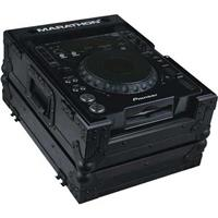 Marathon Flight Road Black Series Case for Pioneer CDJ-1000, CDJ-800, Denon DN-S3700, DN-S3500, Other Large Format CD/Digital Turntables