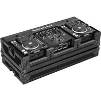 "Marathon Flight Road Case for 2x Small Format CD Players Denon-DN-S1000/DN-S1200 and 10"" Denon DN-X100/DN-X120 Mixer, Black"
