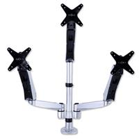 Image of Mount-It! MI-55116 Height Adjustable Triple Arm Articulating Computer Monitor Desk Mount with Clamp Base