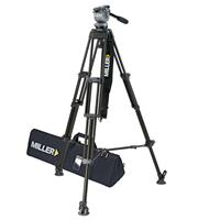 Miller System DS-20 (850) ENG Fluid Head with 2 Stage Aluminum Tripod 420, Above Ground Spreader, wi Product picture - 39