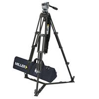 Miller System DS-20 ENG Fluid Head with 2 Stage Aluminum Tripod 420, On Ground Spreader, with Case Product image - 49