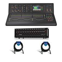 Image of Midas M32 LIVE Digital Console for Live and Studio with 40 Input Channels - Bundle With Midas DL32 32-Input / 16-Output Stage Box with 32 Midas Mic Preamps - 2 Pack 20' XLR Microphone Cable