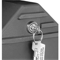 Image of Nalpak Recessed Key Lock for Tuffpak Tripod Case (Installed)