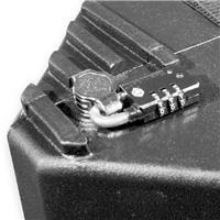 Image of Nalpak Recessed Thumb Turn Lock with TSA Padlock for Tuffpak Tripod Case (Installed)